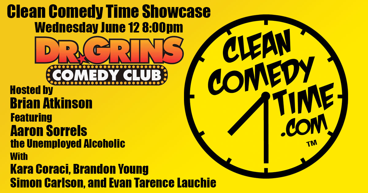 Clean Comedy Time at Dr. Grins