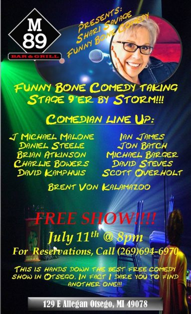 """""""The Funny Bone"""" comedy show at the M89 Bar and Grill in Otsego, MI"""