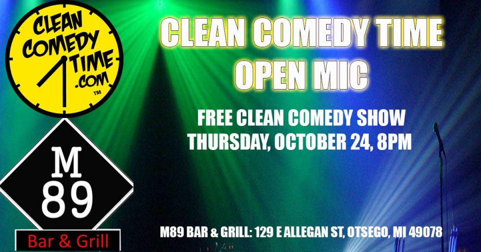 Clean Comedy Time Open Mic