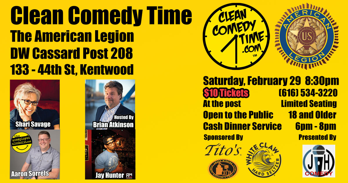 Clean Comedy Time at the American Legion