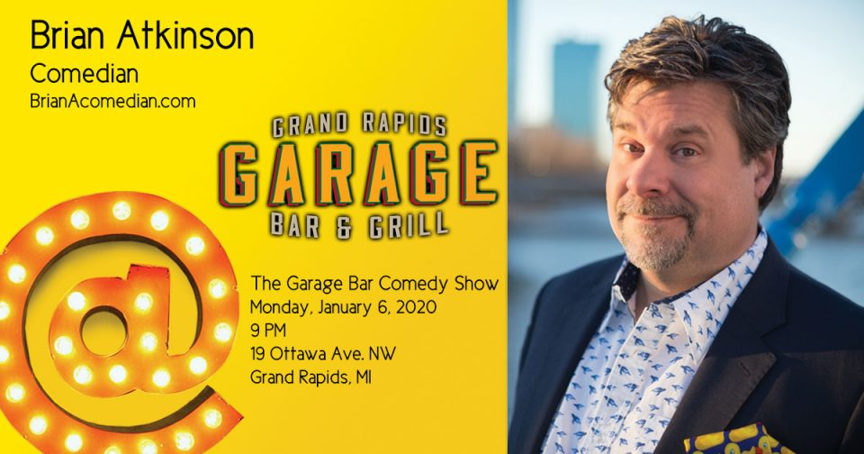 Brian Atkinson performs at the Garage Bar Comedy Show.