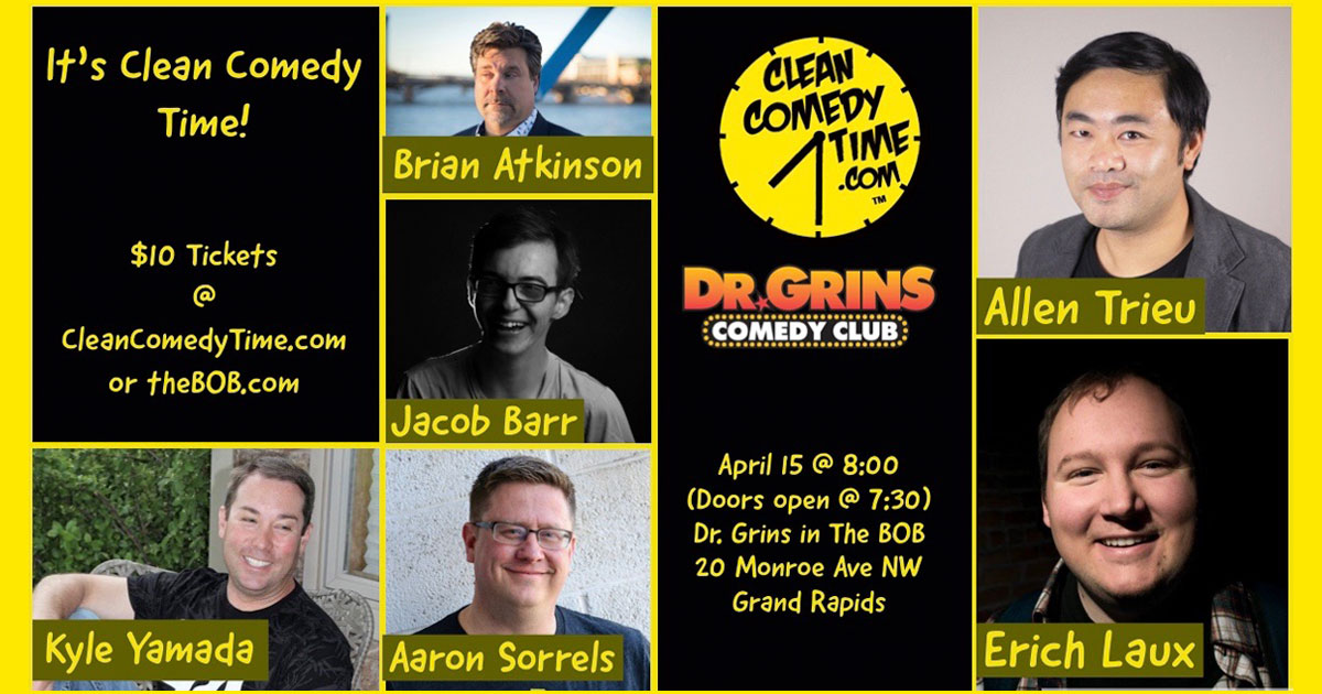 Clean Comedy Time Showcase at Dr. Grins