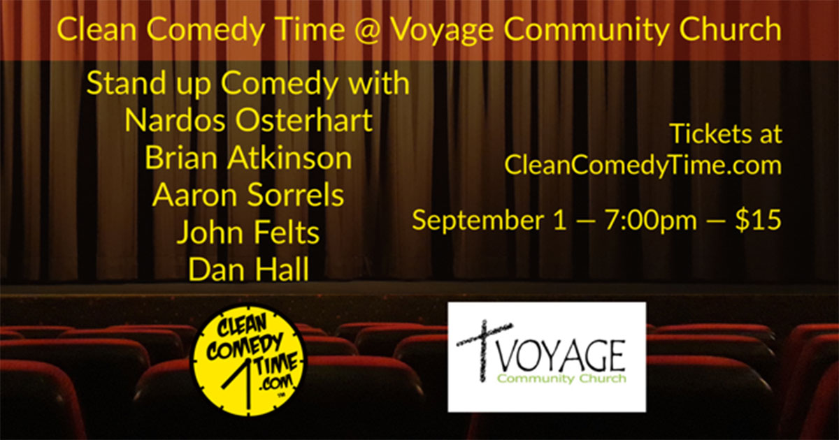 Brian Atkinson with a Clean Comedy Time Show at Voyage Community Church