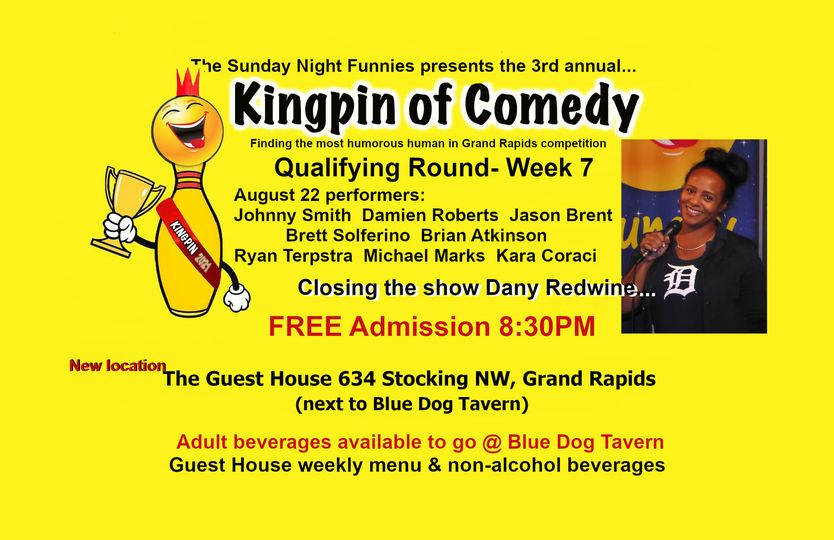 Brian Atkinson performs at the Kingpin of Comedy Competition