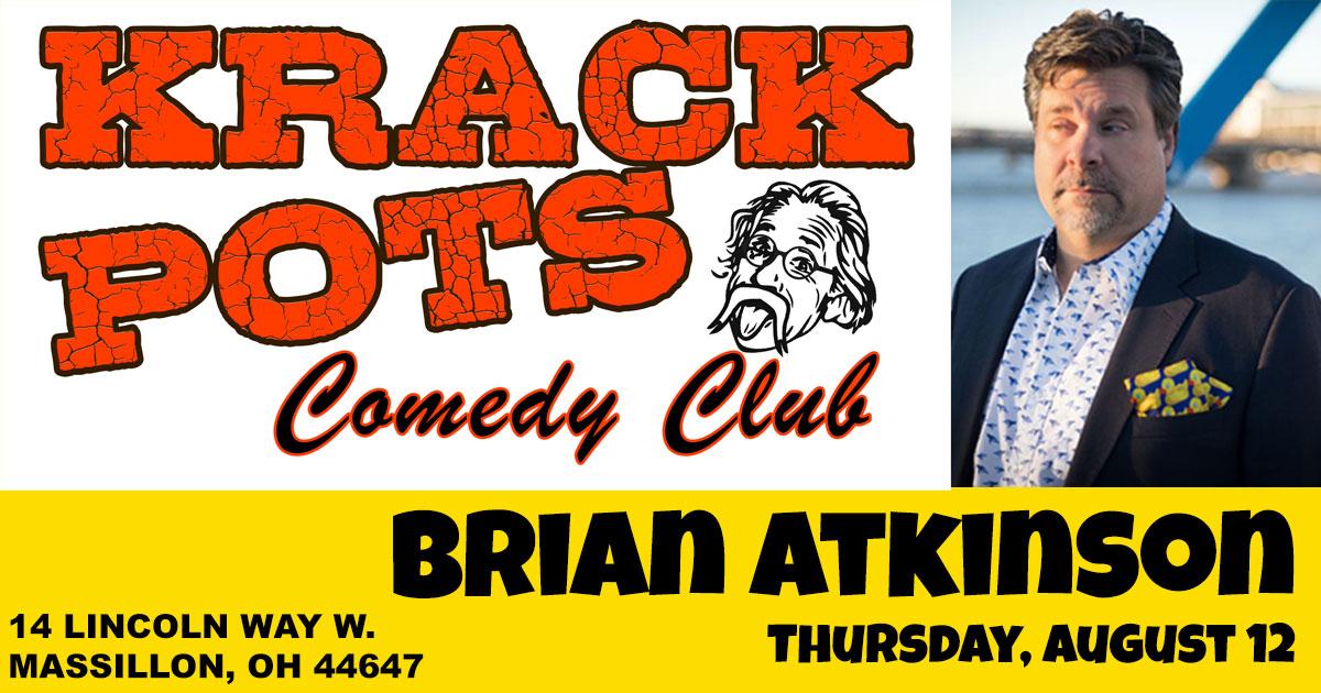 Brian Atkinson closes the show at Krackpots Comedy Club
