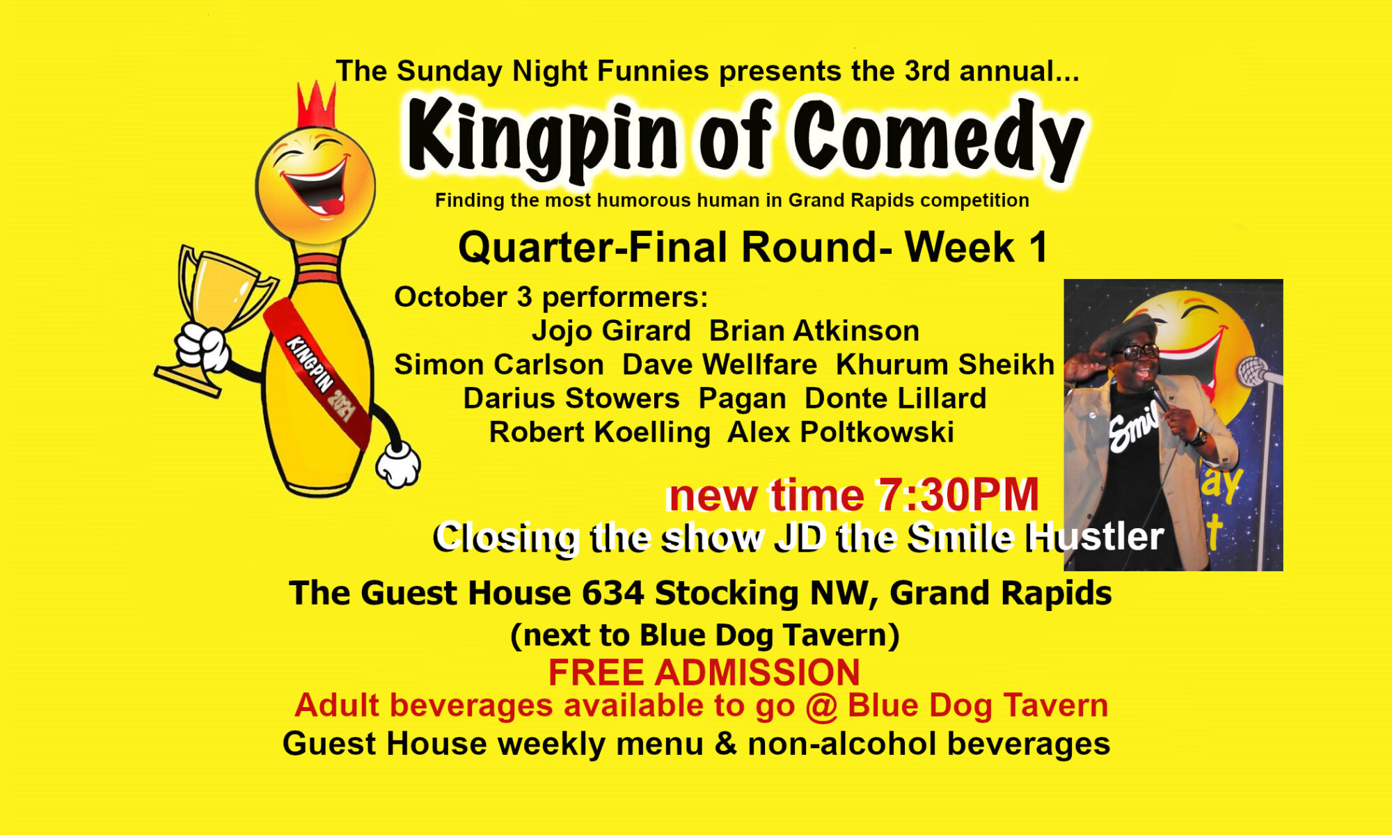 Brian Atkinson performs in the Kingpin of Comedy Quarter-Finals